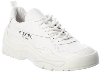 Valentino Logo Leather Sneaker