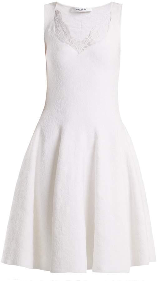 Givenchy Lace-trimmed floral-damask dress