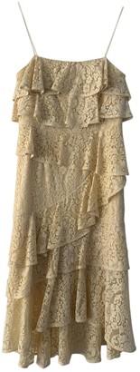 Rebecca Vallance Yellow Lace Dress for Women