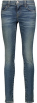 Current/Elliott The Ankle Skinny Mid-Rise Distressed Jeans