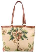 Isabella Fiore Embellished Tropical Print Tote