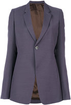 Rick Owens single button blazer - women - Silk/Cotton/Cupro/Virgin Wool - 40