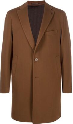 Tagliatore Notched-Lapel Single-Breasted Coat