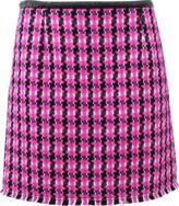 Marc Jacobs Tweed Skirt W/ Vinyl Waistband