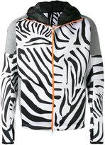 adidas zebra print zip hoodie - men - Polyester/Polyurethane - L