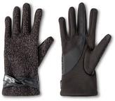 Isotoner Impressions By Women's Gloves Black - Fleck