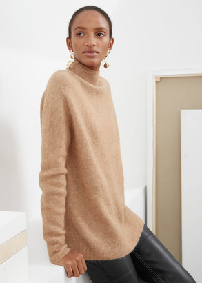 And other stories Relaxed Mock Neck Sweater