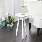Breslin Round End Table Canora Grey Color: White