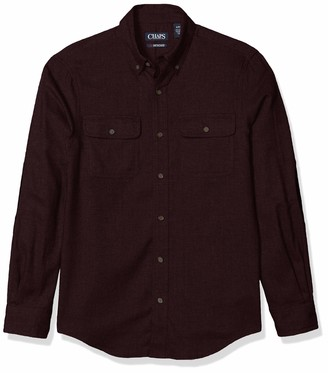 Chaps Men's Regular-Fit Long-Sleeve-Casual Untucked Twill Shirt