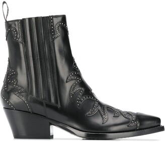 Sartore Stud-Embellished Ankle Boot