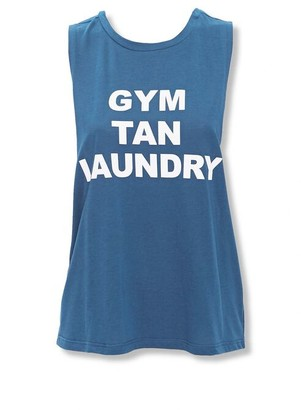 Forever 21 Active Gym Tan Laundry Muscle Tee