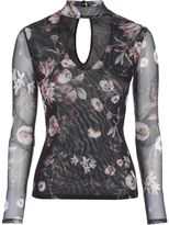 Jane Norman Floral Mesh Choker Top