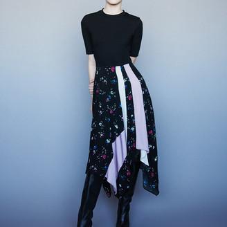 Maje Mixed print layered dress