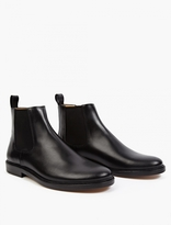 A.p.c. Black Leather Chelsea Boots
