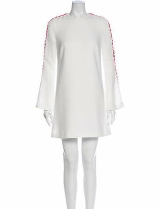Galvan Crew Neck Mini Dress White