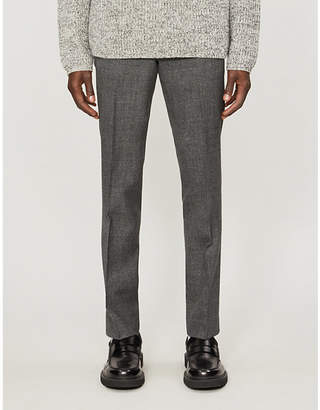 Sandro Flecked high-rise wool suit trousers