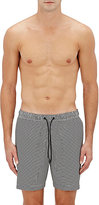 Theory Men's Simulate Striped Swim Trunks