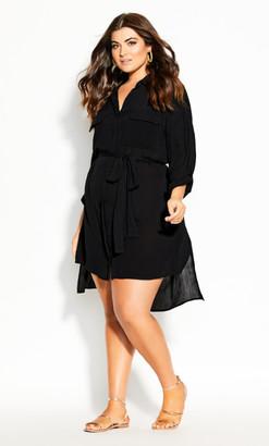 City Chic Heat Wave Tunic - black