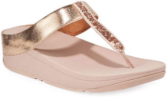 FitFlop Fino Glittered Metallic Thong Sandals