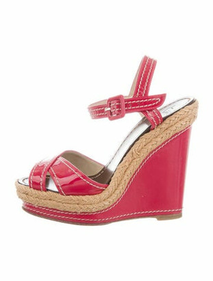 Christian Louboutin Patent Leather Espadrilles Pink