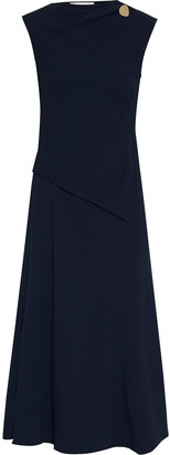 Victoria Beckham Button-embellished Cady Midi Dress
