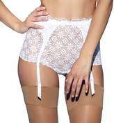 Jezebel Lulu Crochet Lace Garter Brief 44044