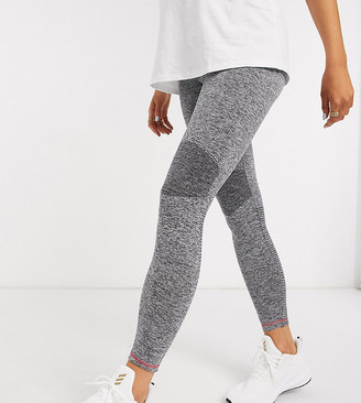 Mama Licious Mamalicious Maternity sports leggings in gray