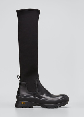 Jil Sander Tall Stretch Rubber Boots