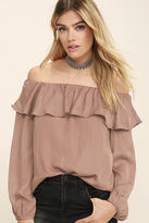 Do & Be Someday, Somehow Rusty Rose Off-the-Shoulder Top
