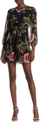 Rachel Roy Sophia Tie Front Floral Dress (Regular & Plus Size)