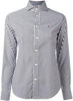 Polo Ralph Lauren embroidered logo striped shirt - women - Cotton/Nylon/Spandex/Elastane - 6