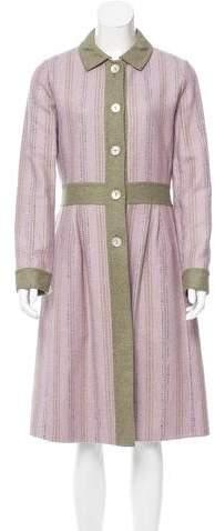 Bill Blass Striped Long Coat