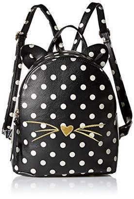 T-Shirt & Jeans Womens Polka Dot Cat Backpack