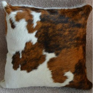 "Pergamino Tricolor DS Cowhide Pillow Cover 15""x15"""