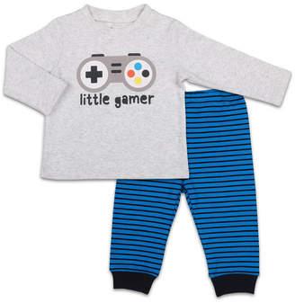 The Peanut Shell The Baby Boy Long Sleeve Shirt And Pants Set