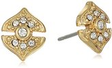 Vince Camuto Pave Gold Stud Earrings