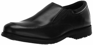 Rockport Men's Lead The Pack Slip-On Black WP Leather 9 M (D)-9 M