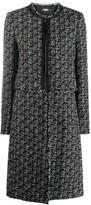 Karl Lagerfeld Paris detachable bottom boucle coat