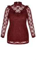 City Chic Victorian Lace Top