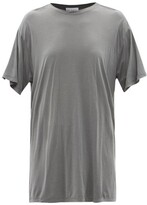 Raey Long-line Cotton-jersey T-shirt - Womens - Grey