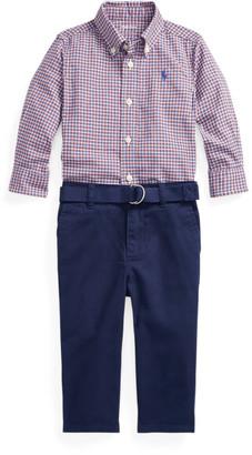 Ralph Lauren Shirt, Belt Trouser Set