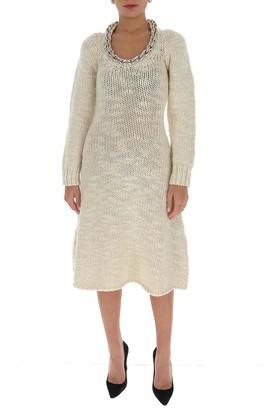 Bottega Veneta Chain Neckline Knitted Dress