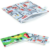 Bumkins Fire Engine Reusable Snack Bag Set