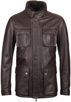 Boss Gembu Brown Leather Jacket
