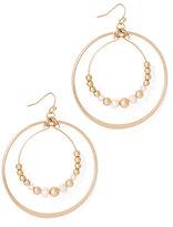 New York & Co. Beaded Double-Hoop Drop Earring