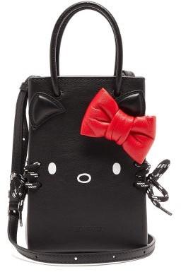 Balenciaga Hello Kitty Shopping Phone Holder Leather Bag - Womens - Black Multi