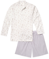 La Perla Relaxed Cotton Pajama Shirt and Shorts Set