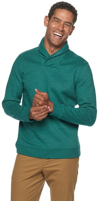 Croft & Barrow Big & Tall CVC Fleece Shawl-Collar Pullover