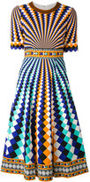 Mary Katrantzou geometric pattern flared dress - women - Silk/Spandex/Elastane/Viscose - 8