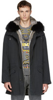 Yves Salomon Black Original Fur Parka